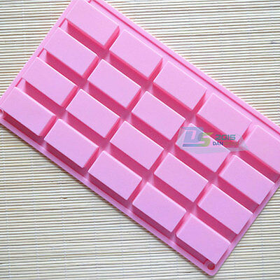 Silicone Soap Mould Making Cake Chocolate Jelly Molds Bakeware Ice Cube Tray DIY