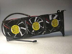 Details about PCIe 3-FAN COOLER GPU COOLER COMPUTER CHASIS FAN CASE FAN  3pin 3500RPM SERVO