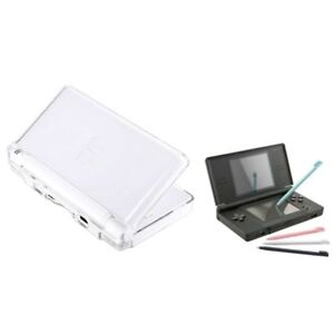 For-Nintendo-DS-Lite-NDSL-Clear-Crystal-Hard-Case-Cover-4-Color-Touch-Stylus