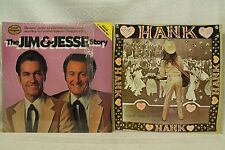 lot 2lp records Hank Wilson's Back The Jim & Jesse story bluegrass country