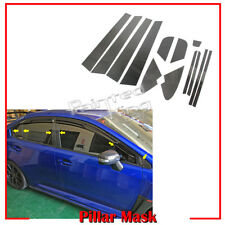 Carbon Door A B C Pillar Mask Window Trim For Subaru WRX STI 4DR Sedan 2015-2019