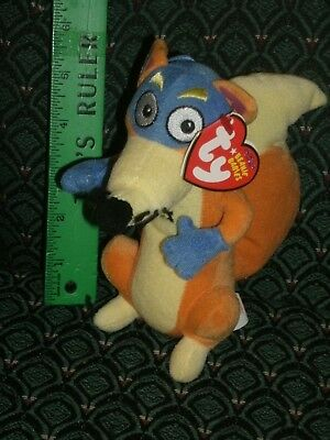 "NEW MWMT Ty LICENSED Beanie Baby Babies Swiper the Fox 7/"" Dora the Explorer"
