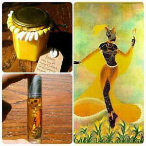 Oshun Orisha Soy Candle and Oil - Pumpkin Honey Cinnamon - Handmade - Yoruba
