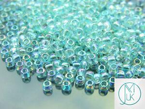 250g-170-Transparent-Aqua-Rainbow-Toho-Seed-Beads-6-0-4mm-WHOLESALE