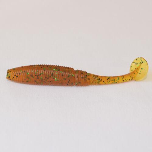 10 Gummiwürmer mit Schaufelschwanz5cmTwisterGummifischAngelhotspot