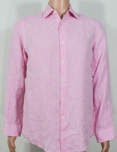 Tasso Elba Island #7997 NEW Men/'s Button Front 100/% Linen Long Sleeve Shirt