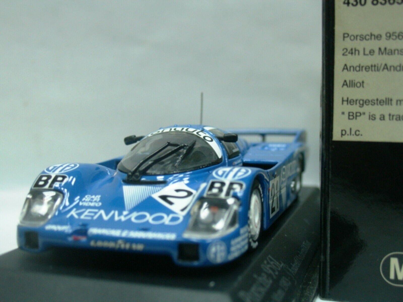 Wow extrêmement rare PORSCHE 956 L  21 Andretti 24 H LeMans 1983 1 43 Minichamps - 962