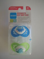 MAM SUPER RARE DESIGN Set Of 2 Pacifiers Orthodontic Nipples Monster Collection