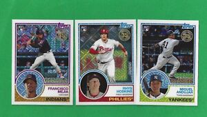 2018-Topps-Series-1-Silver-Pack-Chrome-Set-1-50-TROUT-DEVERS-JUDGE