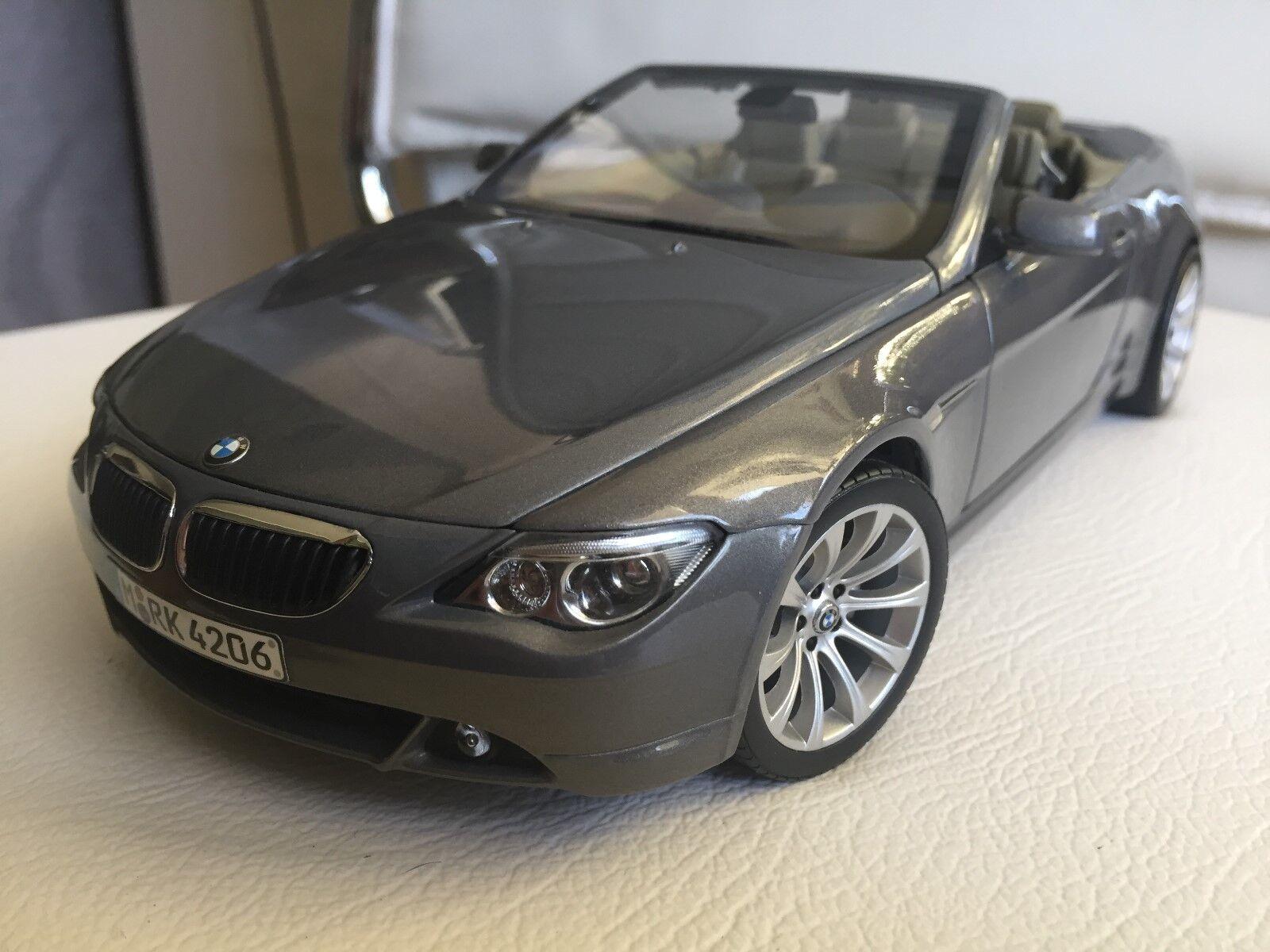 BMW 6er Cabrio 6 serie ConGrünible   Grau 1 18 BasisModelll Kyosho