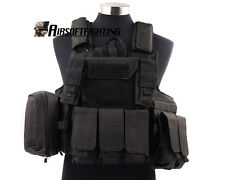 Airsoft Tactical Hunting Molle Plate Carrier Strike Combat Vest w/ Medical Pouch