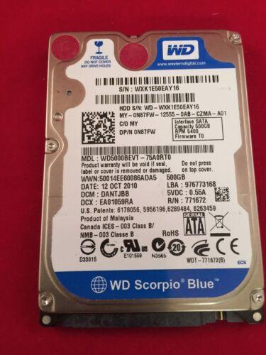 500 GB Western Digital Scorpio Blue MacBook Pro Hard Drive OS X 10.10