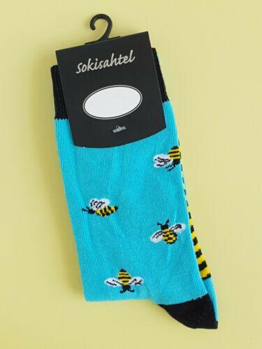 Men/'s Bee Chaussettes animal insecte Imprimé Chaussettes paire Mix-Match