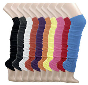 1-o-2-Pares-Calentadores-sobre-la-Rodilla-Punto-Grueso-Muchos-Colores