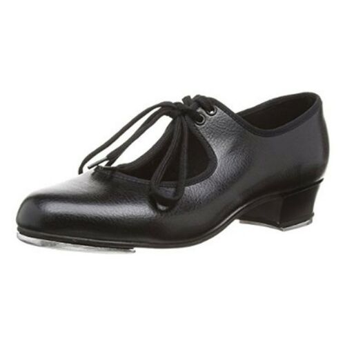 Bloch timestep Girls black pu tap shoe heel and toe taps fitted from child 6