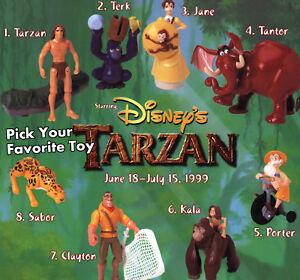 MIP-McDonald-039-s-1999-TARZAN-Disney-JUNGLE-Clayton-TANTOR-Terk-Sabor-PICK-YOUR-TOY