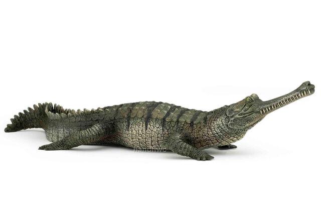 Papo 50154 Gharial Crocodile Model Wild Reptile Animal Replica Toy - NIP