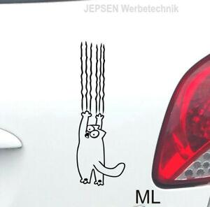 Aufkleber-Simons-Cat-20cm-S063-ML-oder-MR-Farbwahl-fuer-Auto-Heckfenster-Waende
