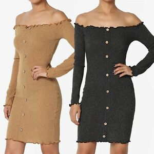 03c488690c9b Image is loading TheMogan-Off-The-Shoulder-Long-Sleeve-Stretch-Ribbed-