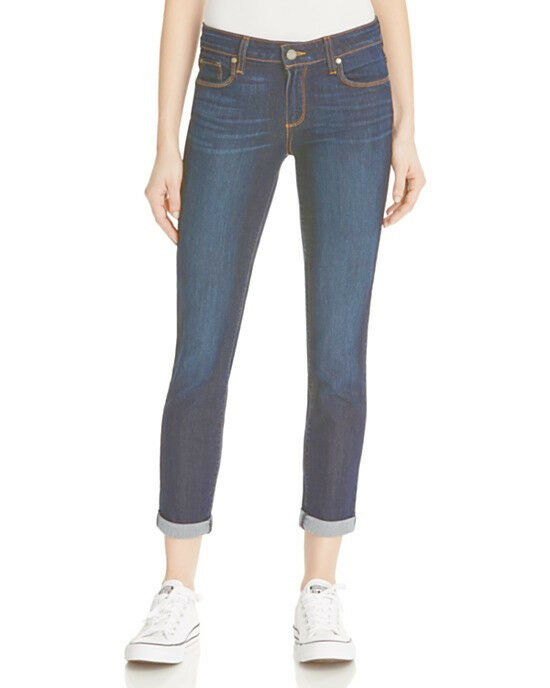 NWT PAIGE PREMIUM DENIM Jeans Mid-Rise Kylie Crop Roll Up Hem Size 30 in Andrea