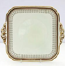 Vintage 1930s Brain Foley China Gold Cake Plate