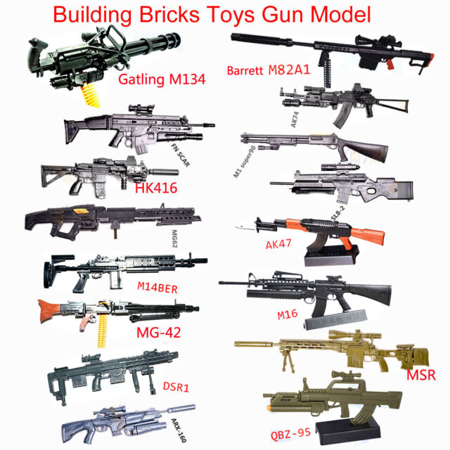 1/6 Scale Toy Gun Model Puzzles Building Bricks Gun PUBG Weapon Action  Figure