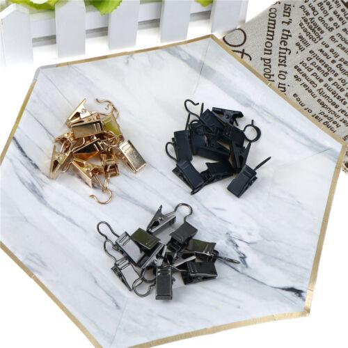 10x acier inoxydable fenêtre de douche de Rideau clips crochet anneaux clips
