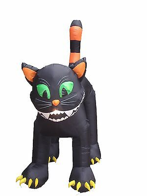 11 FOOT Party Halloween Inflatable Huge Black Cat Yard Decoration Prop Balloon