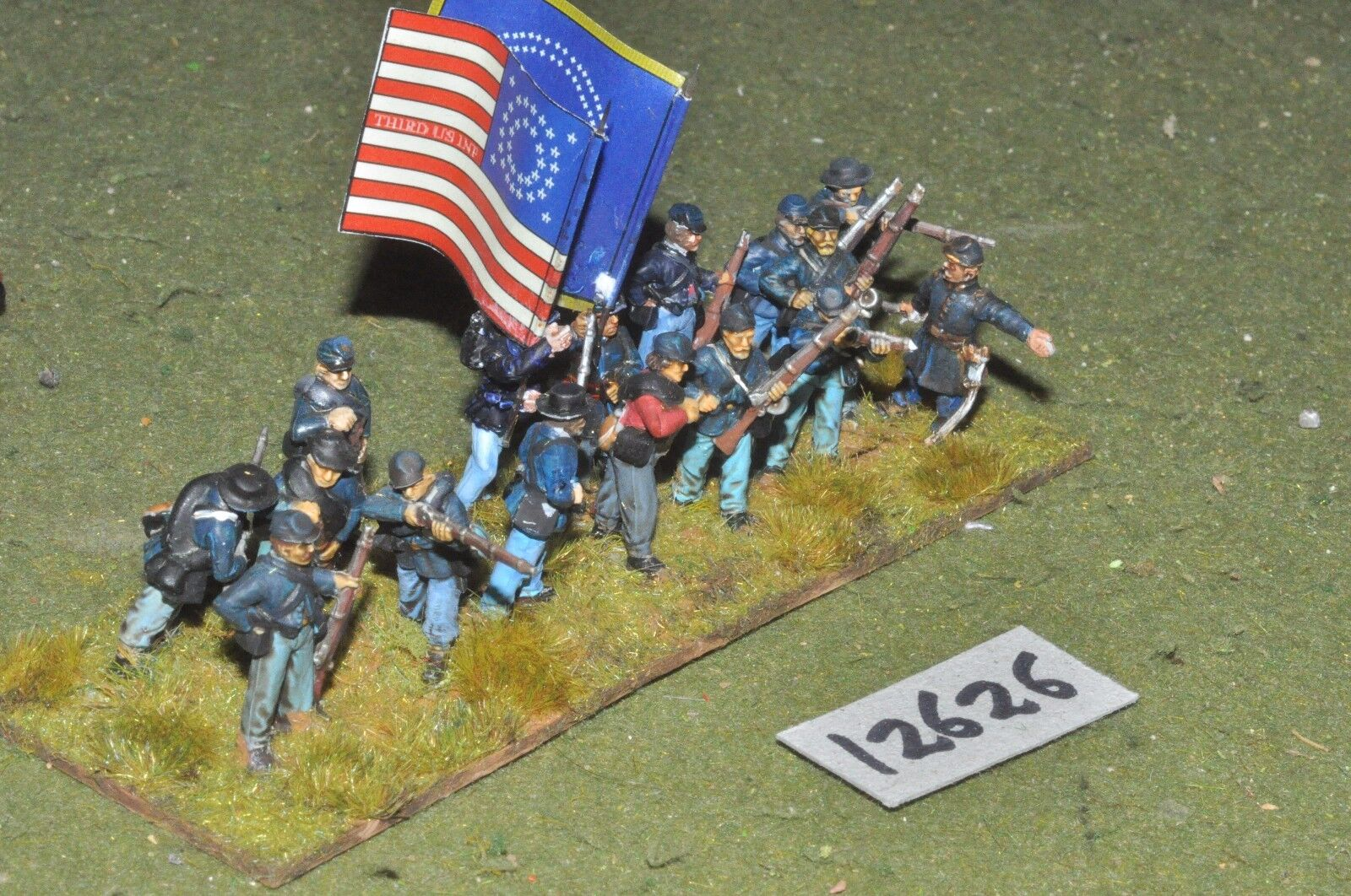 25mm ACW   union - american civil war infantry plastic 16 figs - inf (12626)