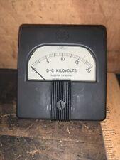 Vintage General Electric Dc Kilovolts Meter Type Do 53