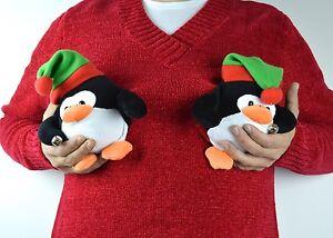 Naughty Penguin Boob 3x Ugly Xmas Sweater Custom Ooak Red V Neck