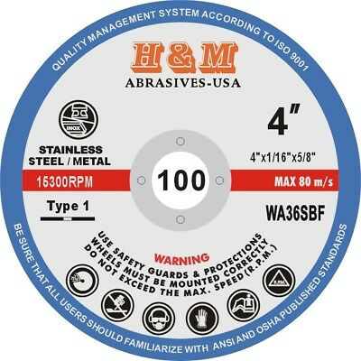 "200pcs 3-inch x 1//16/"" x 3//8/"" Cut-off Wheels SS /& Metal Cutting Disc Wholesale"