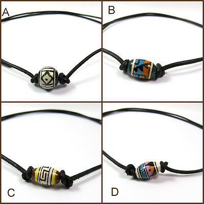 Sinnvoll Surferkette Handbemalte Perlenkette Halskette Beach Karibik Lederkette Unisex Hochwertige Materialien