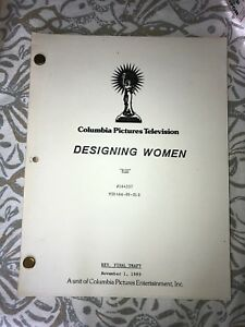 Authentic-Script-From-Columbia-Pictures-Television-Designing-Women-BIG