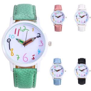 Fashion-Womens-Faux-Leather-Strap-Watch-Quartz-Analog-Pencil-Pointer-Teen-Watch