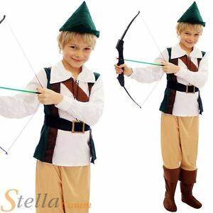 Kids-Boys-Hunter-Robin-Hood-Peter-Pan-Medieval-Book-Week-Fancy-Dress-Costume