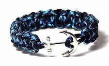 Nautical Anchor Bracelet  Paracord Men Women Fashion Jewelry Hand Made USA