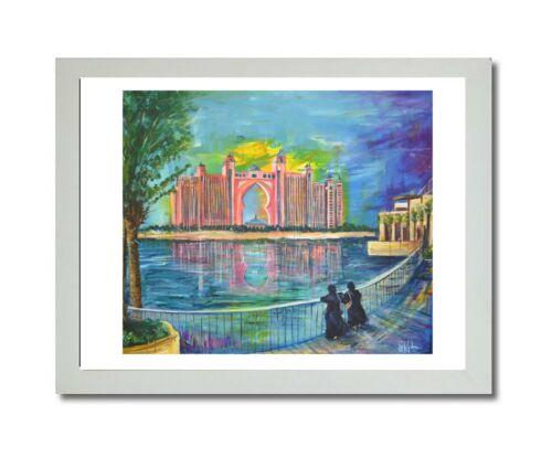 Atlantis Dubai print of a painting