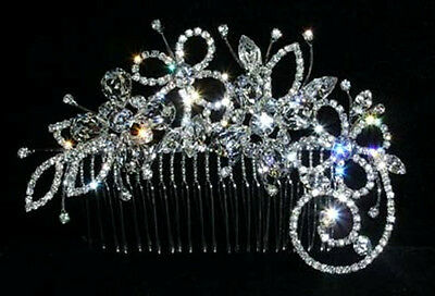BRIDAL FASCINATOR CRYSTAL WEDDING SIDE HAIR COMB / HAIR PIECE