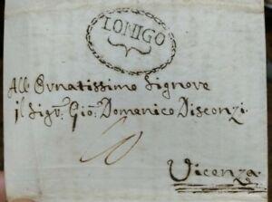 1820-59-PREFILATELICA-DA-ORGIANO-VICENTINO-A-VICENZA-ANNULLO-039-LONIGO-039-RARA