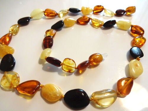Choose your color!!! 100/% Genuine Baltic Amber Adult  Necklaces 17-18 inch