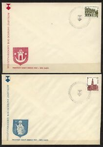 POLAND-1975-FDC-SC-2129-30EURO-ARCH-HERITAGE-YEAR