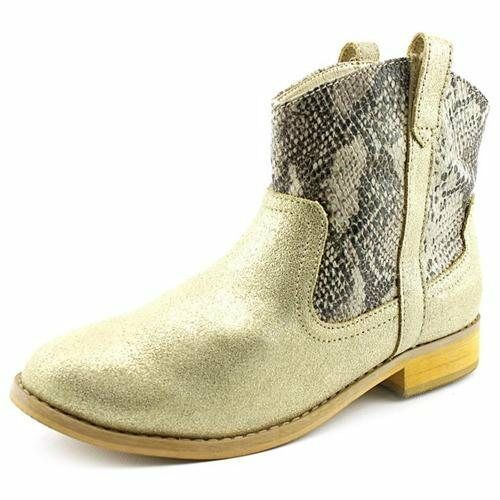 Bass Womens Duncan-1 Casual Pull On Ankle Fashion Boots Gold/ Gray Size 7 M