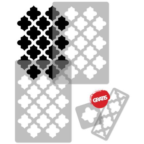 MAROKKANISCH Wiederverwendbare Kunststoff-Schablone nathlos 65x95cm //// Tangier