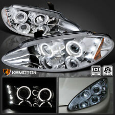 1998-2004 Dodge Intrepid Halo LED Projector Headlights Chrome Pair