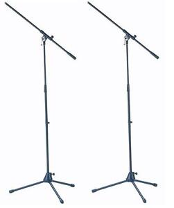 2-St-ADAM-HALL-Mikrofonstaender-Mikrofonstativ-mit-Galgen-Schwenkarm-Stativ