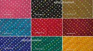 Cotton-Bandhani-Indian-Tie-Dyed-Material-Sewing-Craft-Fabric-34-034-Width-by-yard