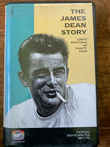 The-James-Dean-Story-VHS-1957-Hollywood-Documentary-Pre-Cert-Videospace-Big-Box
