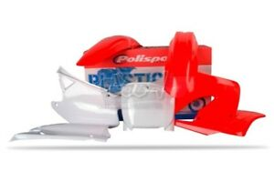 POLISPORT-SET-PLASTICO-COMPLETO-CROSS-MX-ROJO-BLANCO-HONDA-CR-125-2000-01