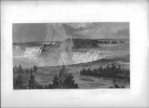 """1874 engraving """"Niagara"""""""